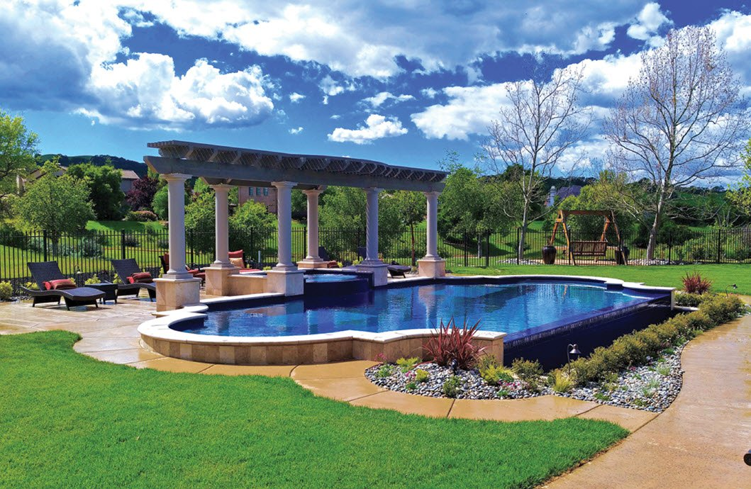 San Francisco Bay Area Custom Pool Located In Danville Unique Pools